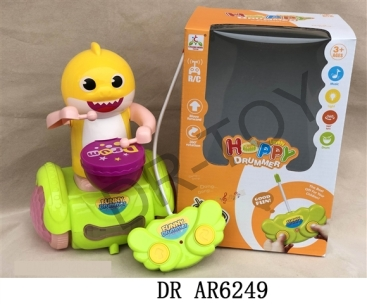 Remote control 3 d light cool drum fish baby
