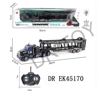 1:48 four-way remote drag head light truck (oil) with USB charging line lithium battery