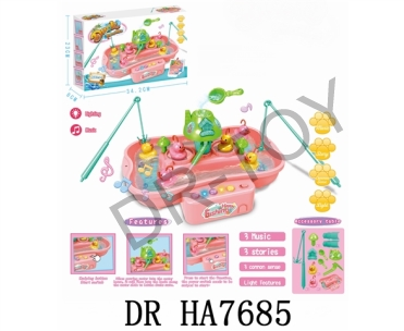Play the part of every pink fishing duck (3 yellow duck and pinky duck) lights (music)