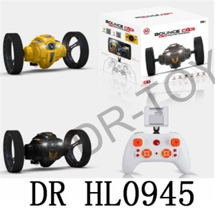 Yellow/black 2.4 G WIFI remote control car bounce light music photo camera (300000 pixels) WIFI phot