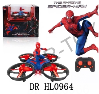 Monochrome spider-man mini 4 axis aircraft fly up and down forward back about turning on the left si