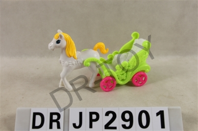 Pull the carriage with lamp without doll 3 color orange