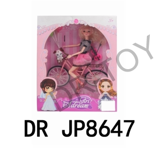 Bicycle balloon puppies doll (body adopts 11 joints, head adopts 3 d eyes, other conventional)